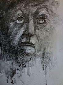 Gefühl, Grafit, Menschen, Zeichnungen