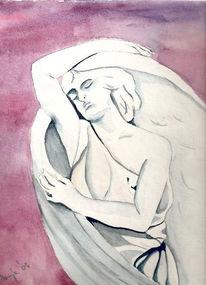 Figur, Aquarellmalerei, Engel, Malerei