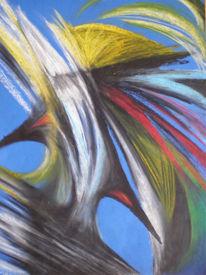 Bunt, Pastellmalerei, Zeichnungen, Abstrakt
