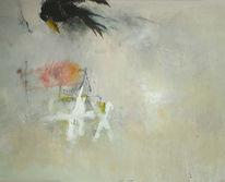 Malerei, Abstrakt, Warten, Mischtechnik