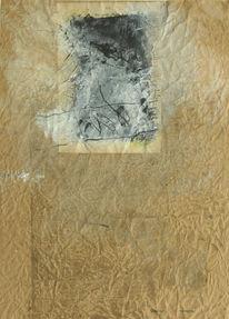 Malerei, Abstrakt, Wachs, Mann