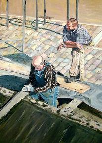 Realismus, Arbeit, Acrylmalerei, Leben