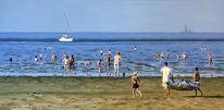 Meer, See, Menschen, Boot