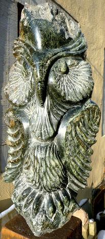 Skulptur, Stein, Kopf, Tiere