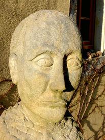 Plastik, Skulptur, Kopf, Stein