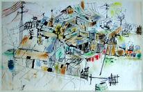 Iasi, Am stadtrand, Slum, Zeichnung