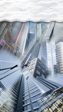 Turm, Bankenviertel, Grau, Bau