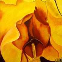 Gelb, Ölmalerei, Bart, Modern