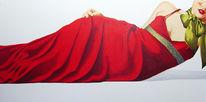 Rot, Malerei, Glamour, Popart