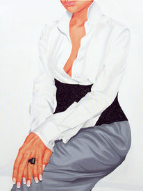 Kleid, Fotorealismus, Realismus, Frau