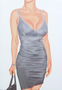 Silber, Frau, Glamour, Fotorealismus