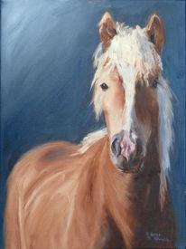 Tiere, Pferde, Braun, Ölmalerei