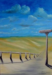Wolken, Falschmontiert, Richtung, Malerei