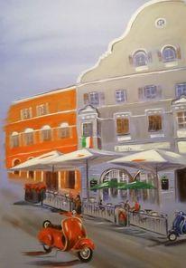 Italien, Azur, Vespa, Eisdiele