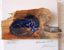 Acrylmalerei, Harmonie, Blau, Katze