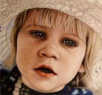 Sonnenhut, Augen, Kind, Portrait