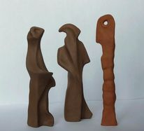Skulptur, Plastik, Ton, Surreal