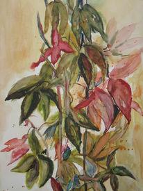 Malerei, Stillleben, Herbstlaub