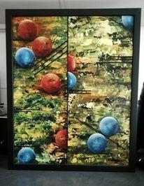 Acrylmalerei, Kreis, Gelb, Bunt