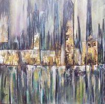 Fluss, Landschaft, Stadt, Haus