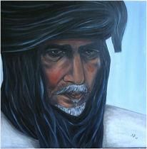 Portrait, Blau, Arabien, Turban