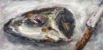 Fisch, Kopf, Messer, Malerei