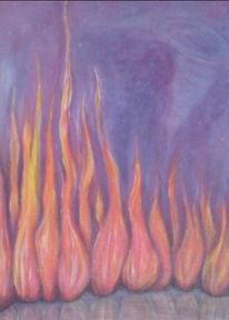 Flammen, Feuer, Malerei, Elemente