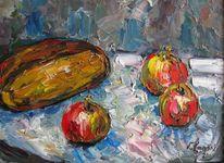 Malerei, Stillleben, Brot