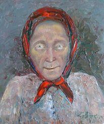 Malerei, Menschen, Frau, Kopftuch
