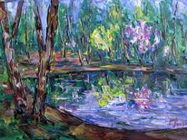 Malerei, Teich