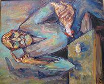 Malerei, Abstrakt, Philosophie, Huhn