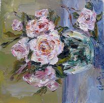 Malerei, Stillleben, Stimmung, Rosa