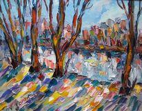 Malerei, Licht, Schatten, Winter