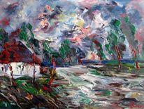 Malerei, Sturm, Flut