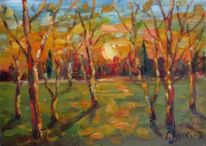 Malerei, Abend, Warm
