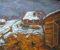 Malerei, Warm, Winter