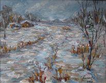 Malerei, Tag, Winterlich