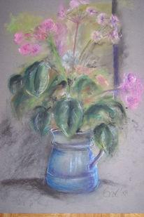 Blumen, Pastellmalerei, Zart, Malerei