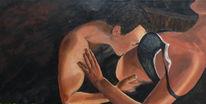 Rot schwarz, Braun, Acrylmalerei, Akt