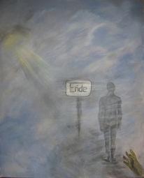 Wolken, Loslassen, Acrylmalerei, Nebel