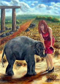 Weg, Wolken, Elefant, Pi