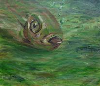 Grün, Acrylmalerei, Ruhe, Blase