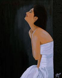 Malerei, Zeitgenössische kunst, Gefühlschaos, Person