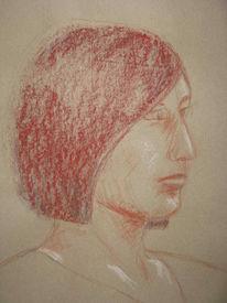 Licht, Zeichnung, Portrait, Profil