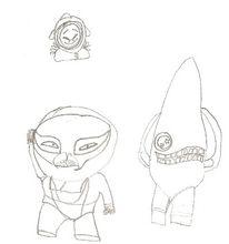 Fantasie, Monster, Zeichnung, Zeichnungen