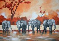 Malerei, Savanne