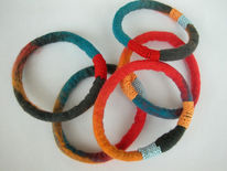 Filz, Filzarbänder, Filzschmuck, Armband