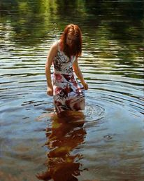 Licht, Welle, Frau, Fotorealismus