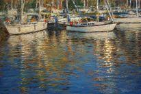 Meeresmotiv, Wasser, Wasserspiegelung, Segelboot