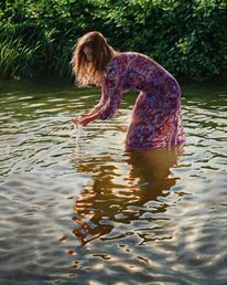 See, Wasser, Hyperrealismus, Kleid